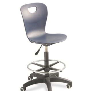 Integrity Ribbed-Back Lab Height Gas Lift Chair