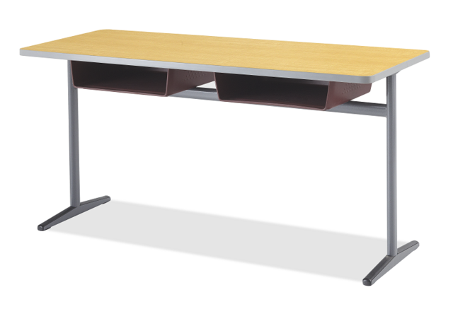 Integrity Single Leg Double Desk